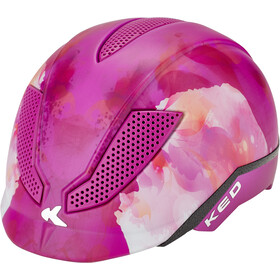 KED Pina Kask rowerowy Dzieci, violet flower